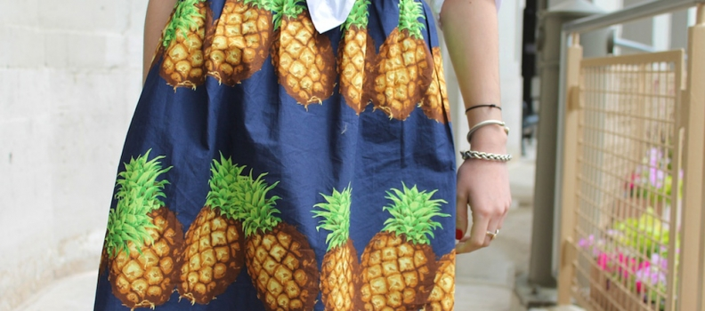 STYLE PILL: Streetstyle pineapple print.